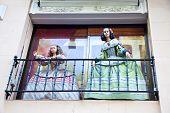 Madrid. Dolls On The Balcony
