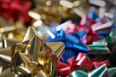 Colorful bows for present wrapping