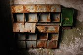 Rusty Abandoned Mailboxes