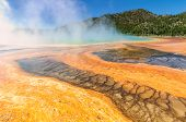 Blue hot spring, Grand Prismatic Spring, Yellowstone