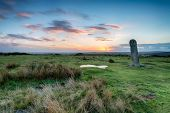 The Longstone On Bodmin Moorin Cornwall