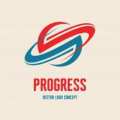 Progress - vector logo concept