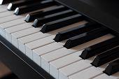 The Keys Of A Pianoforte Diagonal