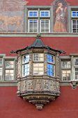 foto of corbel  - Oriel Window in Rococo style in the old Swiss town - JPG