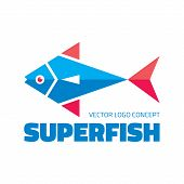 Superfish - vector logo concept