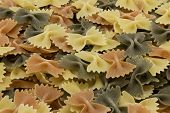 Italian Tri-colored Raw Farfalle