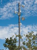pic of light-pole  - A park lighting pole and spotlights detail - JPG