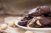 Chocolate Cookies (with Macadamia Nuts)