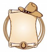 picture of lasso  - Cowboy hat and lasso - JPG