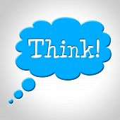 Think Thought Bubble Means Consideration Plan And Reflecting