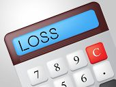 Loss Calculator Represents Commerce Losing And Finances