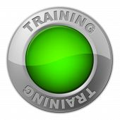 Training Button Indicates Tutoring Education And Learn