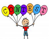 Contest Balloons Means Kids Challenge And Competitiveness