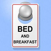 Bed And Breakfast Means Place To Stay And Cuisine