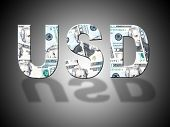 Usd Letters Represents United States And Bank