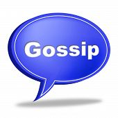 Gossip Speech Bubble Represents Chat Room And Chatter