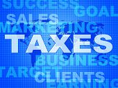 Taxes Words Shows Duty Company And Excise