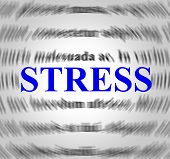 picture of stress  - Stress Definition Representing Overworked Stressing And Sense - JPG