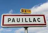 Traffic Sign City Pauillac City Of Wine