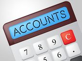 Accounts Calculator Indicates Balancing The Books And Accounting