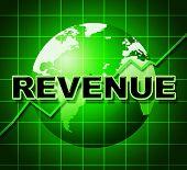 Revenue Graph Represents Income Graphs And Diagram