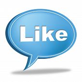 Like Message Indicates Social Media And Communication