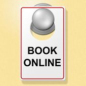 Book Online Sign Means Place To Stay And Booked