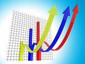Business Graph Means Trend Statistics And Forecast
