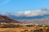picture of costa blanca  - View to Costa Blanca in Lanzarote, Canary Islands, Spain.