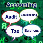 Accounting Words Means Balancing The Books And Auditor