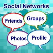 Social Networks Words Means News Feed And Forums