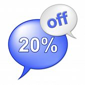 Twenty Percent Off Means Reduction Retail And Closeout