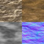 stock photo of diffusion  - Wet stone seamless generated texture  - JPG