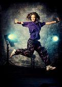 stock photo of rap-girl  - Beautiful hip - JPG
