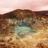 Crater lake of Tangkuban Perahu, Bandung, West Java, Indonesia.