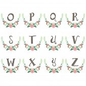 Monogram Wreath Table Card O to Z
