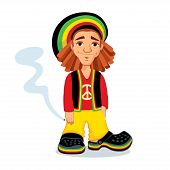 Rastafarian guy with a joint