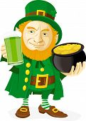 Leprechaun with pot of gold