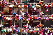 Many Love Locks On The Gates Of The Juliet House In Verona, Italy