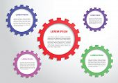 Color Gears Infographics Background