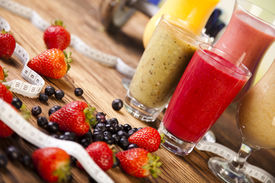 stock photo of fruit shake  - Healthy diet - JPG