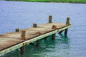 pic of dock a pond  - Dock - JPG