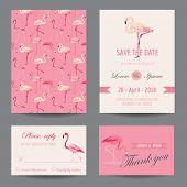 foto of flamingo  - Invitation - JPG