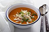 image of butternut  - Sweet potato and butternut squash soup with chicken - JPG
