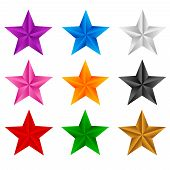 picture of x-rated  - Colorful stars clip art isolated on white background - JPG