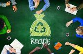 pic of reuse  - Reuse Recycle Ecology Environment Go Green Meeting Concept - JPG