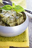 image of stew  - Stewed potato and broccoli with shaved parmesan - JPG