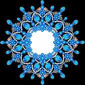 picture of precious stone  - Elegant background with circular ornament of precious stones - JPG