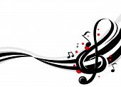 image of musical scale  - Stylish design of music notes - JPG
