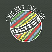 picture of cricket ball  - Creative colorful ball on abstract background for Cricket League concept - JPG